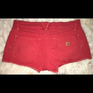 Roxy Denim shorts orange Sz 5/27 great Condition